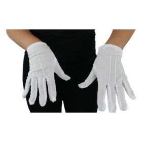 Adults Short White Gloves