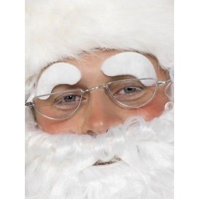 White Self Adhesive Santa Eyebrows