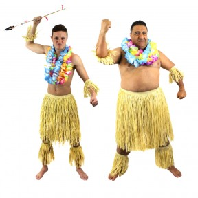 Mens Zulu Fancy Dress Costume