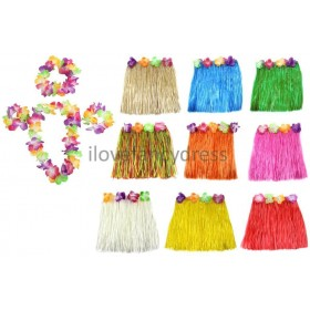 Hula Set - 40cm Skirt , Lei, Headband, Bracelets