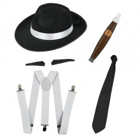 Instant Gangster Fancy Dress Set
