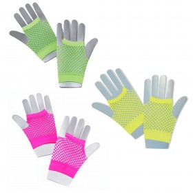 Short 1980's Style Fishnet Gloves