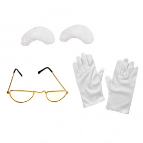 Instant Santa - Gloves, Glasses + Eyebrows