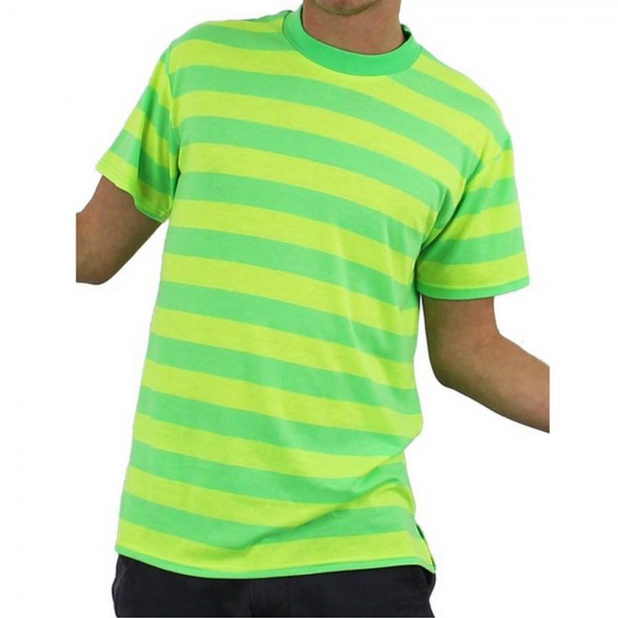 Cartoon Characters Yellow And Black Striped Shirts : Green and yellow striped retro t shirt