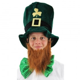 Irish Hat with Attached Beard