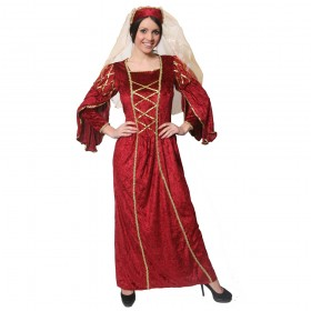 Ladies Past Times Queen Costume -  Red