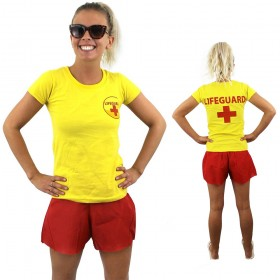 Womens Yellow Lifeguard T-Shirt