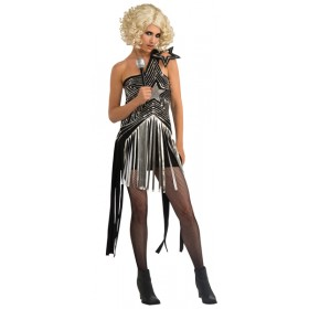 Womens Lady Gaga Sequin Star Costume