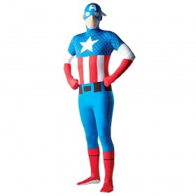 Licensed Adults Captain America Second Skin Costume