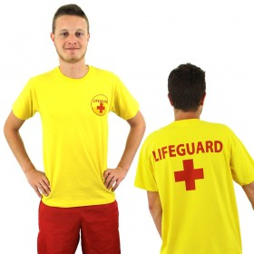 Mens Yellow Lifeguard T-Shirt