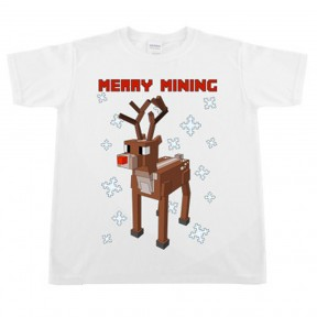Childrens 'Merry Mining' Reindeer Christmas T-Shirt