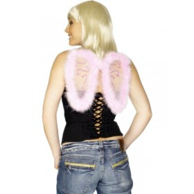 Pink Mini Glitter Angel WIngs
