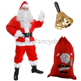 Quality 12 Piece Santa Costume
