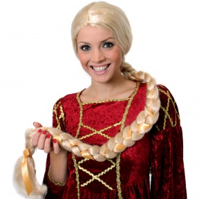 Rapunzel Style Long Blonde Plaited Wig