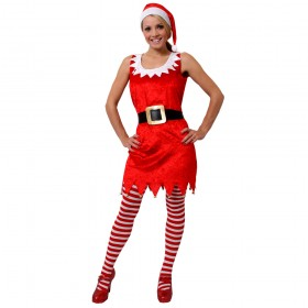 Ladies Red Sexy Santa Costume
