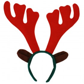 Christmas Reindeer Antlers on Headband - Attached Ears