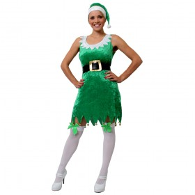 Ladies Green Sexy Elf Costume