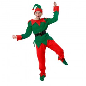 Womens 5 Piece Elf Costume