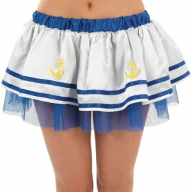 Multi Layered Sailor with Anchors Tutu/Underskirt
