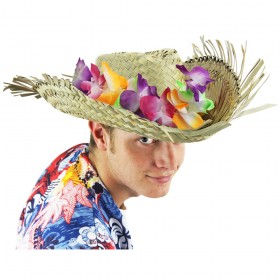 Beachcomber Hat with Attached Lei
