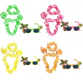 Tropical Glasses and Lei Set