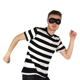 Adult Burglar/Robber Costume - Short Sleeve