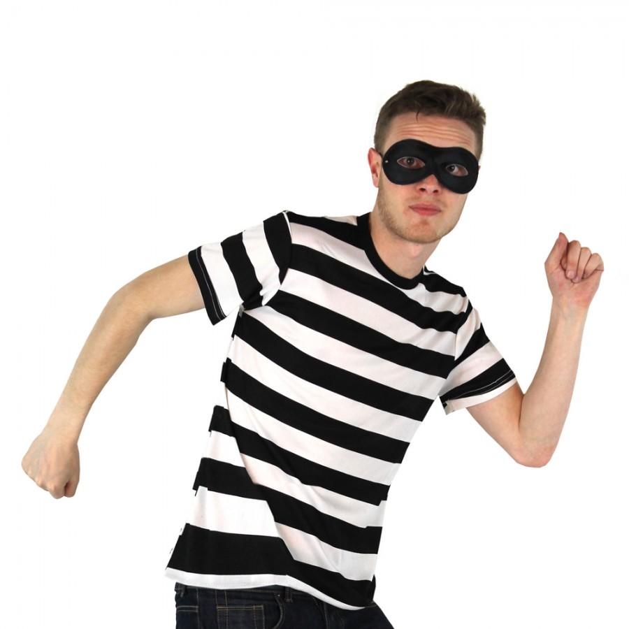 Adult Burglar/Robber Costume - Short Sleeve