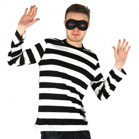 Adult Burglar/Robber Costume - Long Sleeve