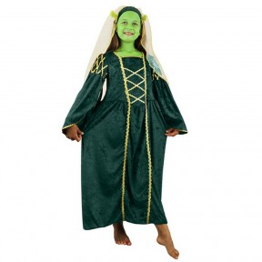 Girls Green Medieval Princess