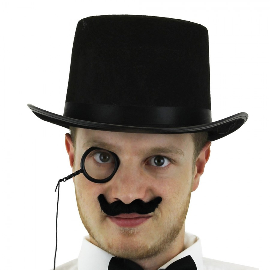 Rich Toff Set - Top Hat, Monocle and Moustache