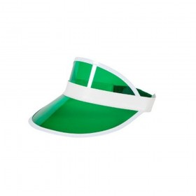 Unisex Green Visor / Poker Hat