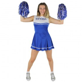Blue & White High School Cheerleader