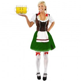 Brown Bavarian Beer Girl Costume