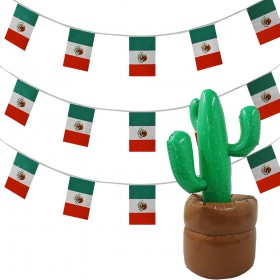 Mexican Bunting + Inflatable Cactus