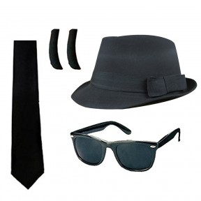 4 Piece Blues Brothers Set