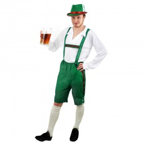 Green Bavarian Beer Man Costume