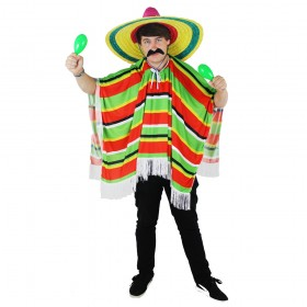 Adults Multicolour Mexican Poncho