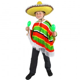 Childs Multicolour Mexican Poncho
