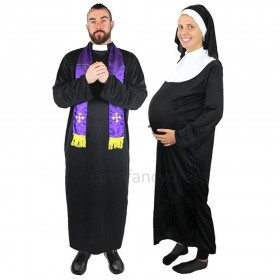 Couples Costume - Nun and Priest