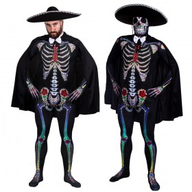 Day of the Dead Sugar Skull Skeleton Skinsuit