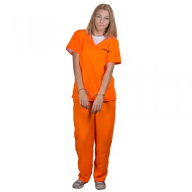 Ladies Orange Prisoner Costume