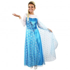 Adult Ladies Snow Princess Fancy Dress Costume