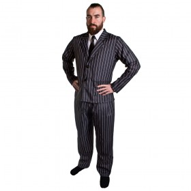 Mens 1920s Pinstripe Gangster Suit