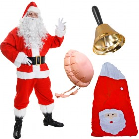Quality 13 Piece Santa Costume