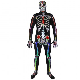 Sugar Skull Skeleton Skinsuit
