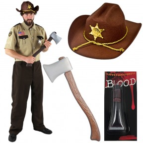 US Zombie Hunter Halloween Sheriff Costume