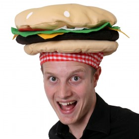 Novelty Burger Hat