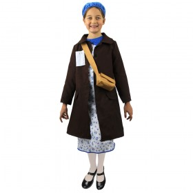 Childs Evacuee Girl War Costume