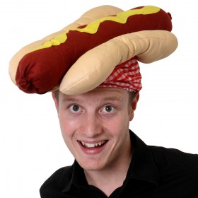 Novelty Hotdog Hat