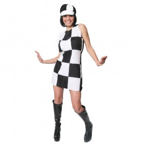 Faulty 60s Party Girl Dress - Black and White